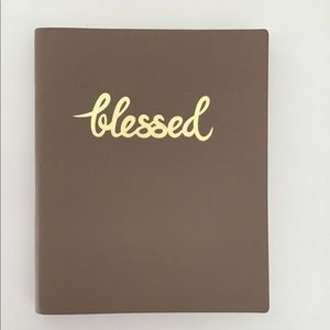 Other - Notebook/Journal tan with blessed in gold writing